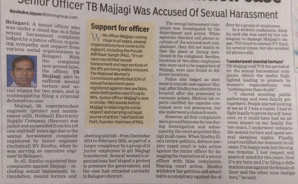 TB-Majjagi-TOI-news-false-sexual-harassment-PAS