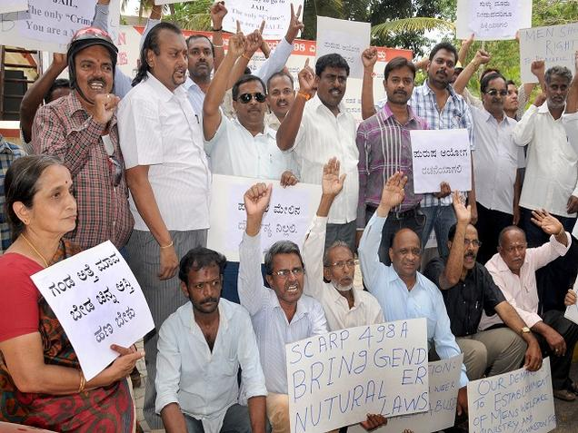 Mysore protest by men's rights activists
